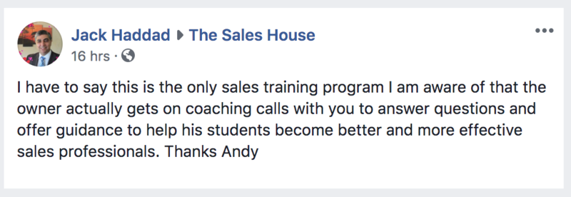 A review of The Sales House.