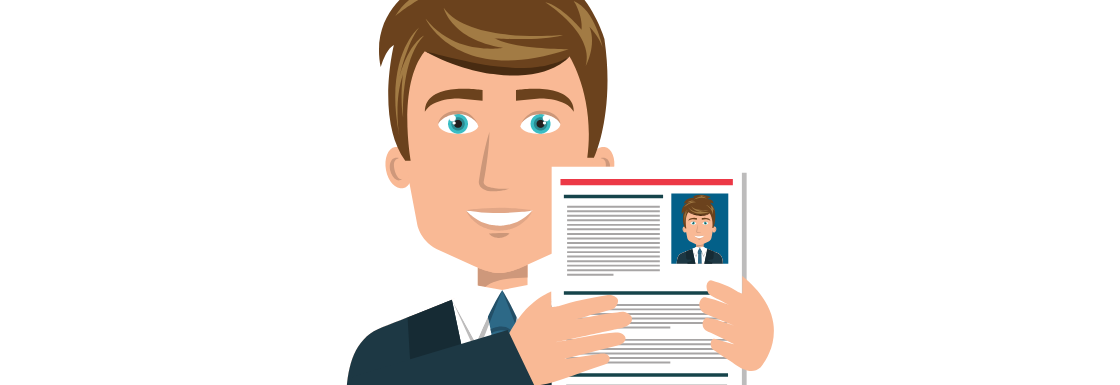 Man holding up a document that represents the improvement of sales hiring.