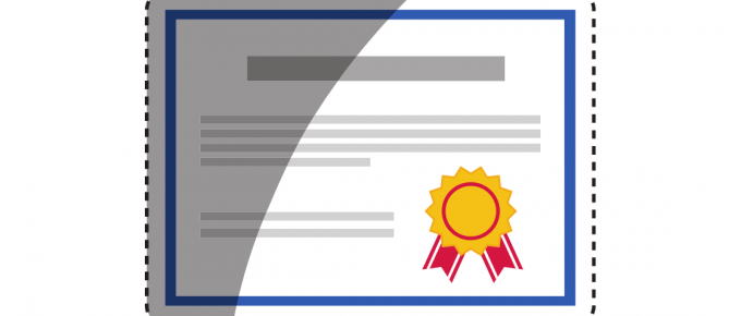 A certificate that represents a category qualification or a product qualification